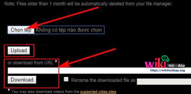 Tải File lên hoặc lấy nguồn Video cần ghép