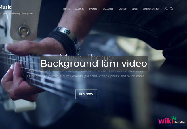 Chọn background làm video